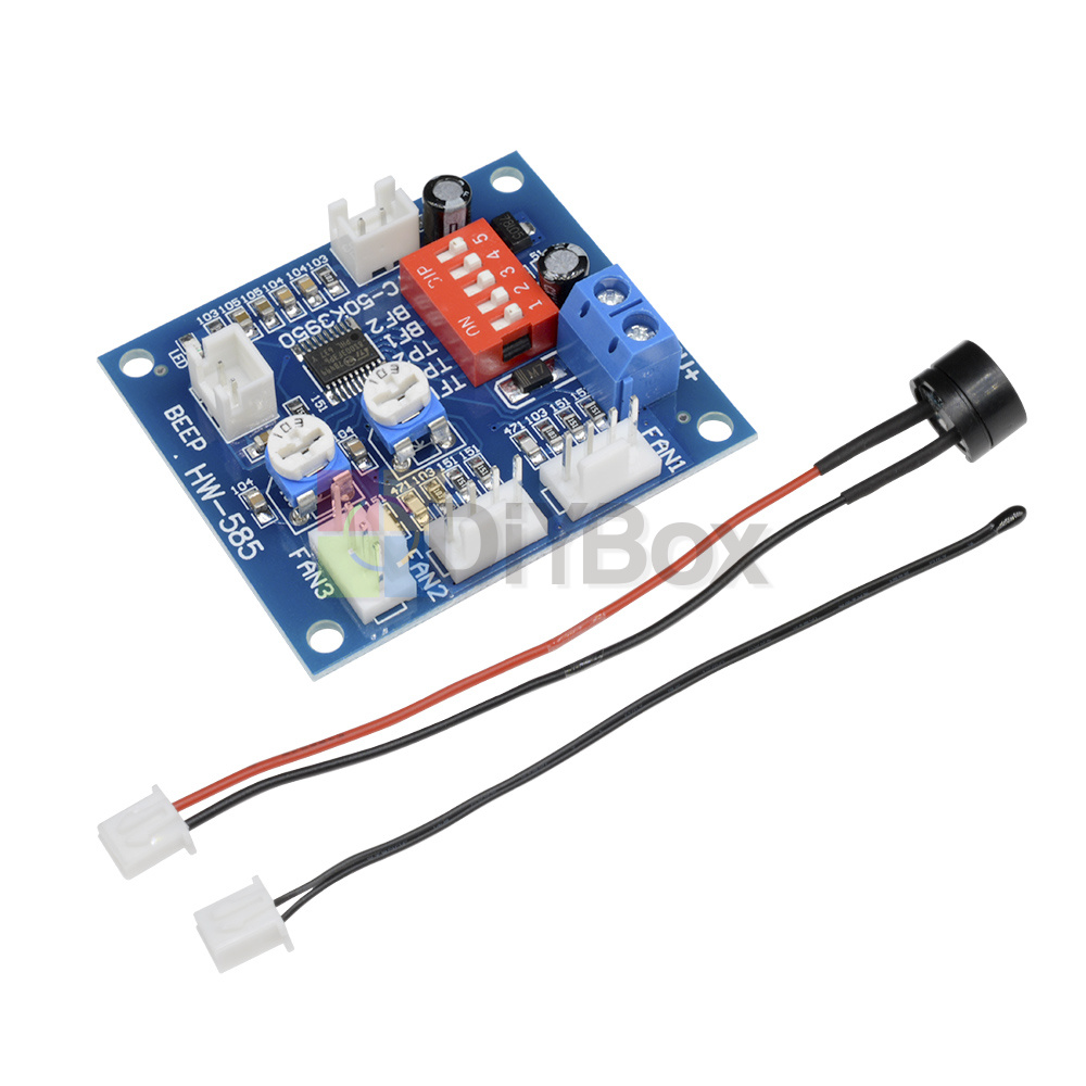 12v Pwm Pc Cpu Fan Temperature Control Speed Controller Module High Controlled Regulator Electronic Circuits And Temp Alarm