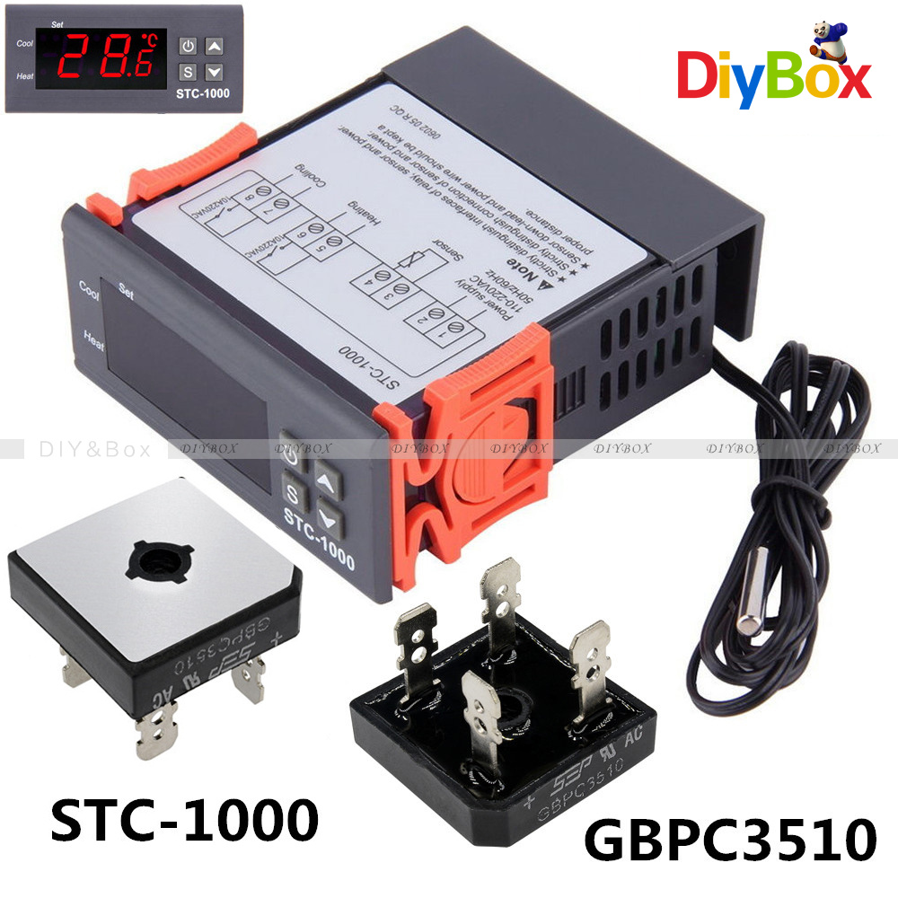 Digital Stc 1000 Temperature Controller Temp Sensor Thermostat The Stc1000 Is A With That Control 220 240v