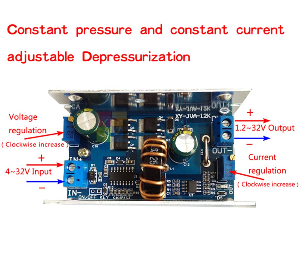 12A 200W Step Down Converter Buck Module DC 4.5-30V to 0.8-32V//4-32V to 1.2-32V