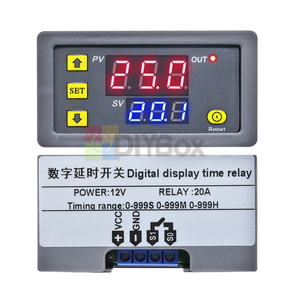 12V-Digital-Dual-LED-Delay-Relay-Automation-Cycle-Timer-Control-Switch-Module thumbnail 11