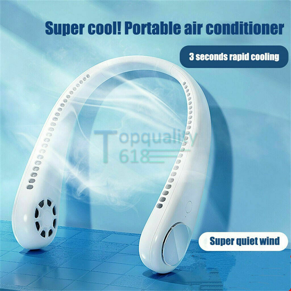 USB Micro Portable 2 in 1 Air Cooler Mini Electric Air Conditioner Neck Cooling