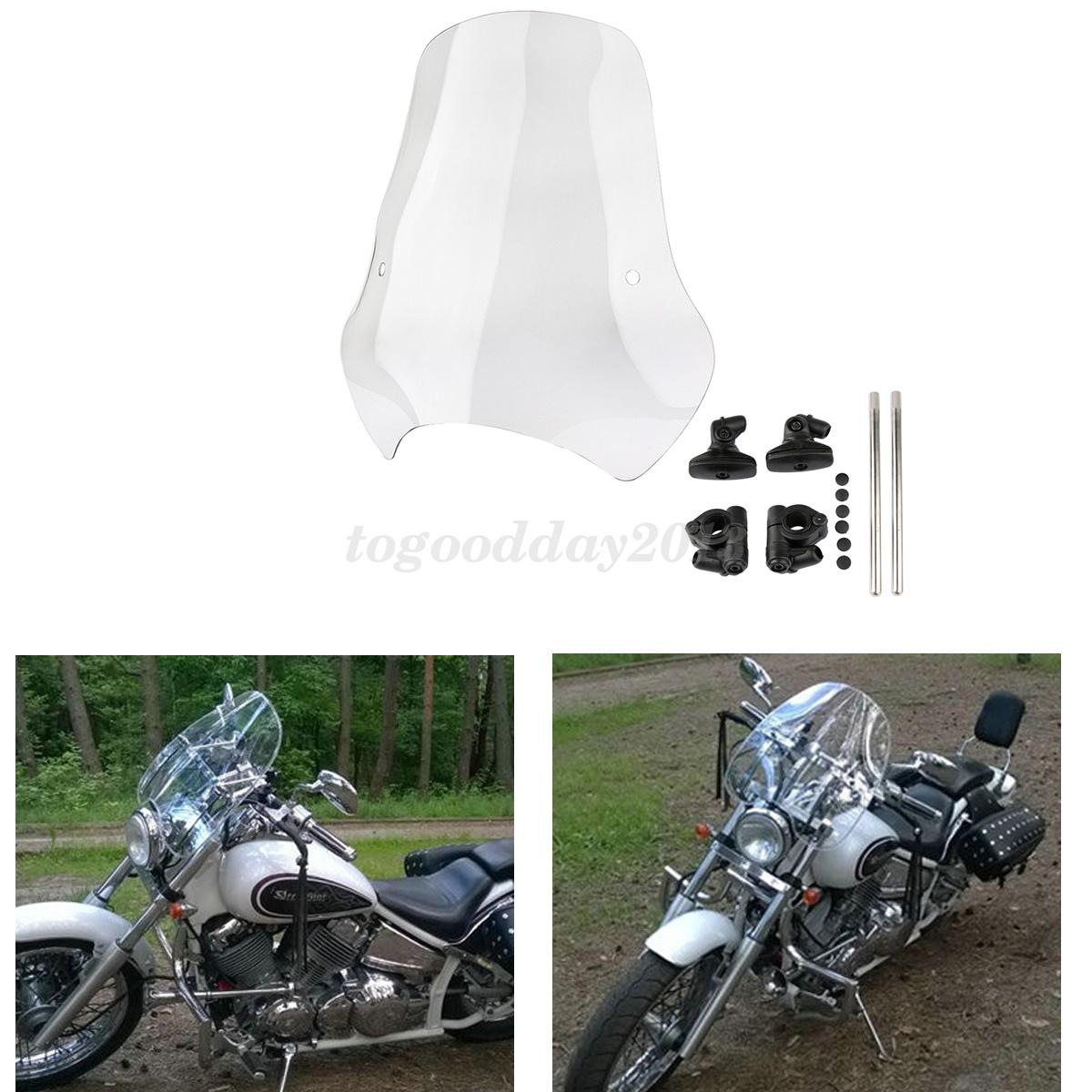 Motorcycle Windshield Windscreen 7 8 1 Handlebar Mount Hardware For Harley Ebay