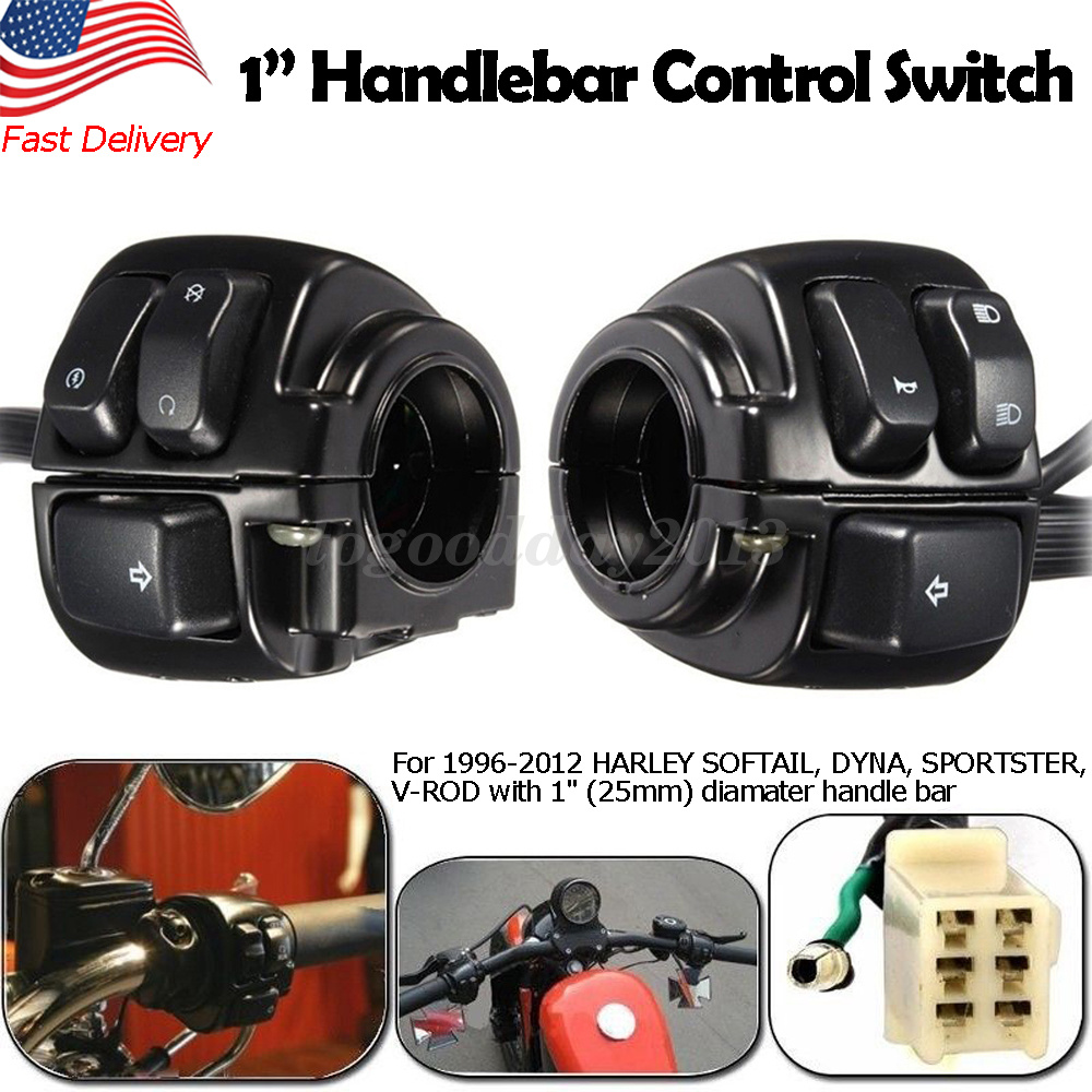 Details about Pair Motorcycle 1''Handlebar Turn Signal Control Switch on