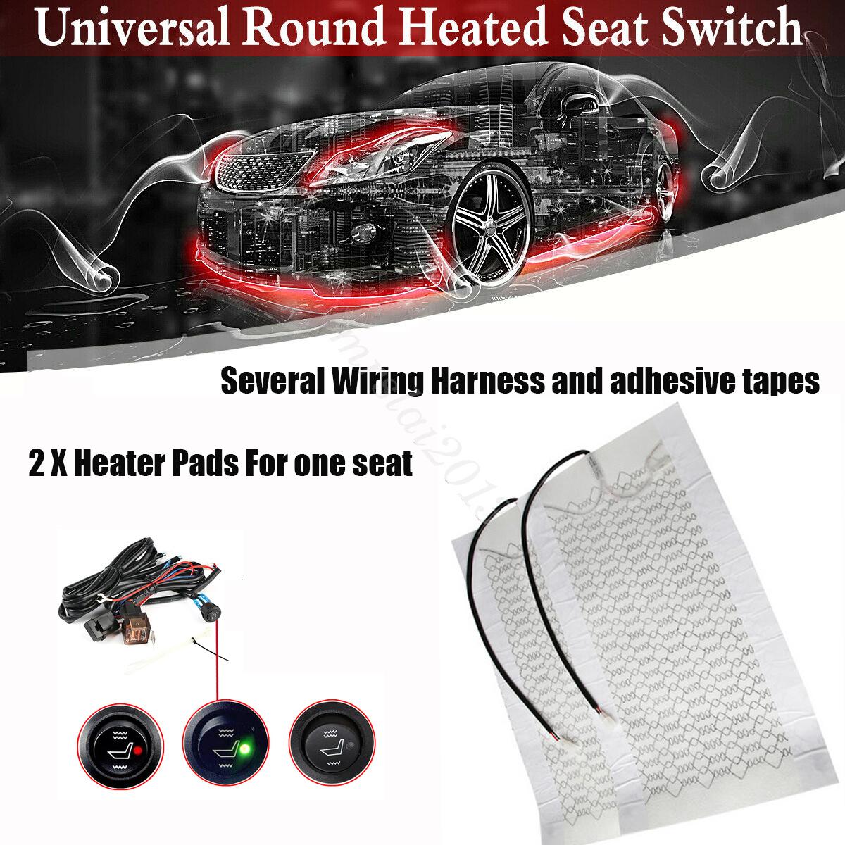 Universal Car Seat Carbon Fiber Heated Seat Heating Pads Round Switch Kit Truck Ushirika Coop