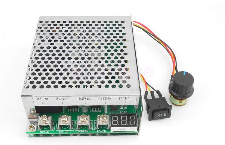 New DC 10-55V 100A Max Reversible DC Motor Speed Control PWM Controller