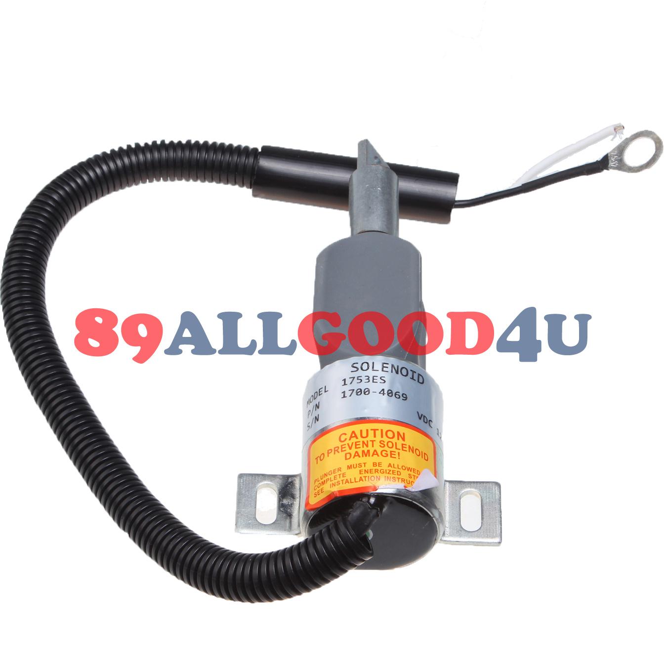 Details about New Fuel Shut Off Solenoid for TAKEUCHI TL140 Loaders 12V