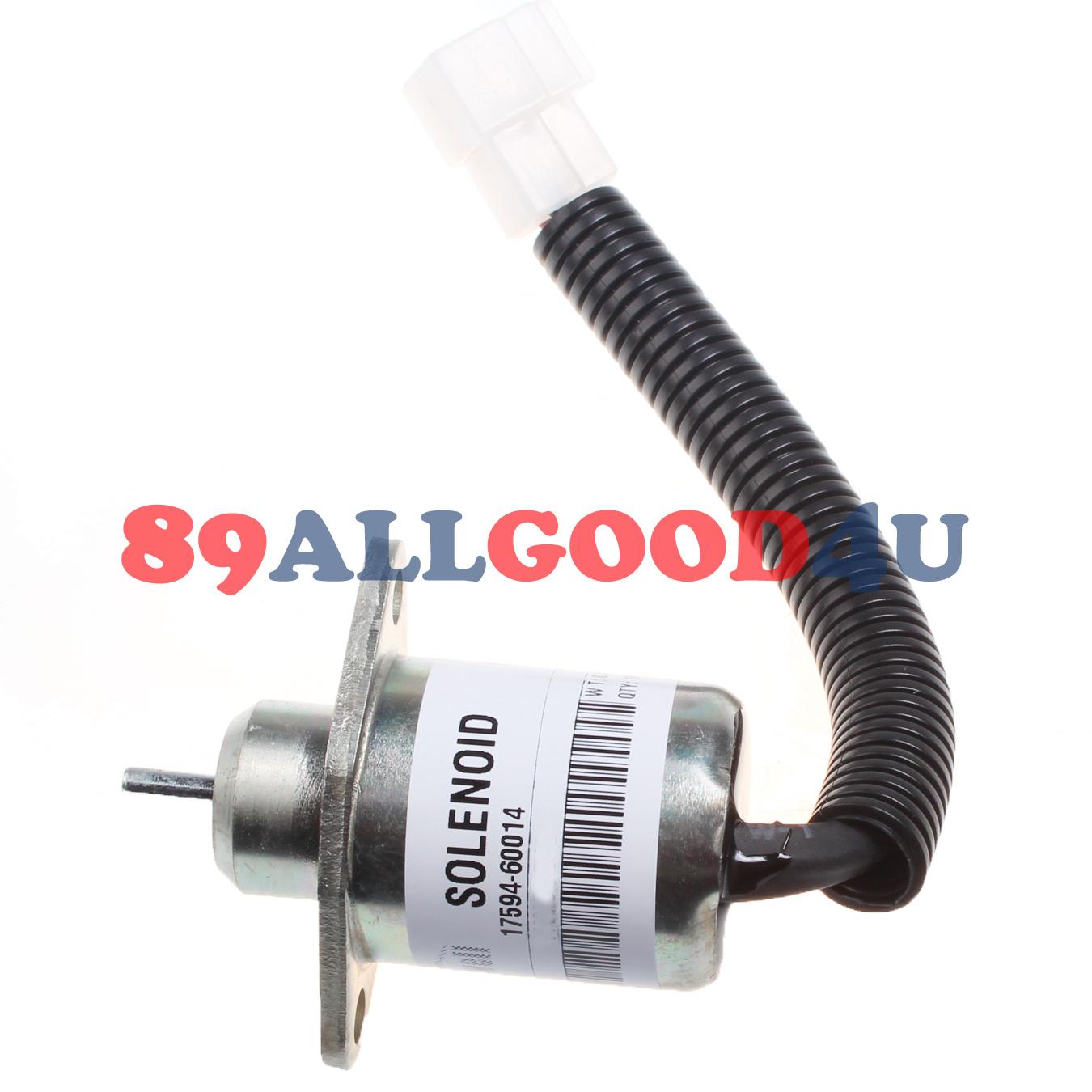 Stop solenoid for Kubota D905 D1005 D1105 Tractor Mower Generator Tower Digger