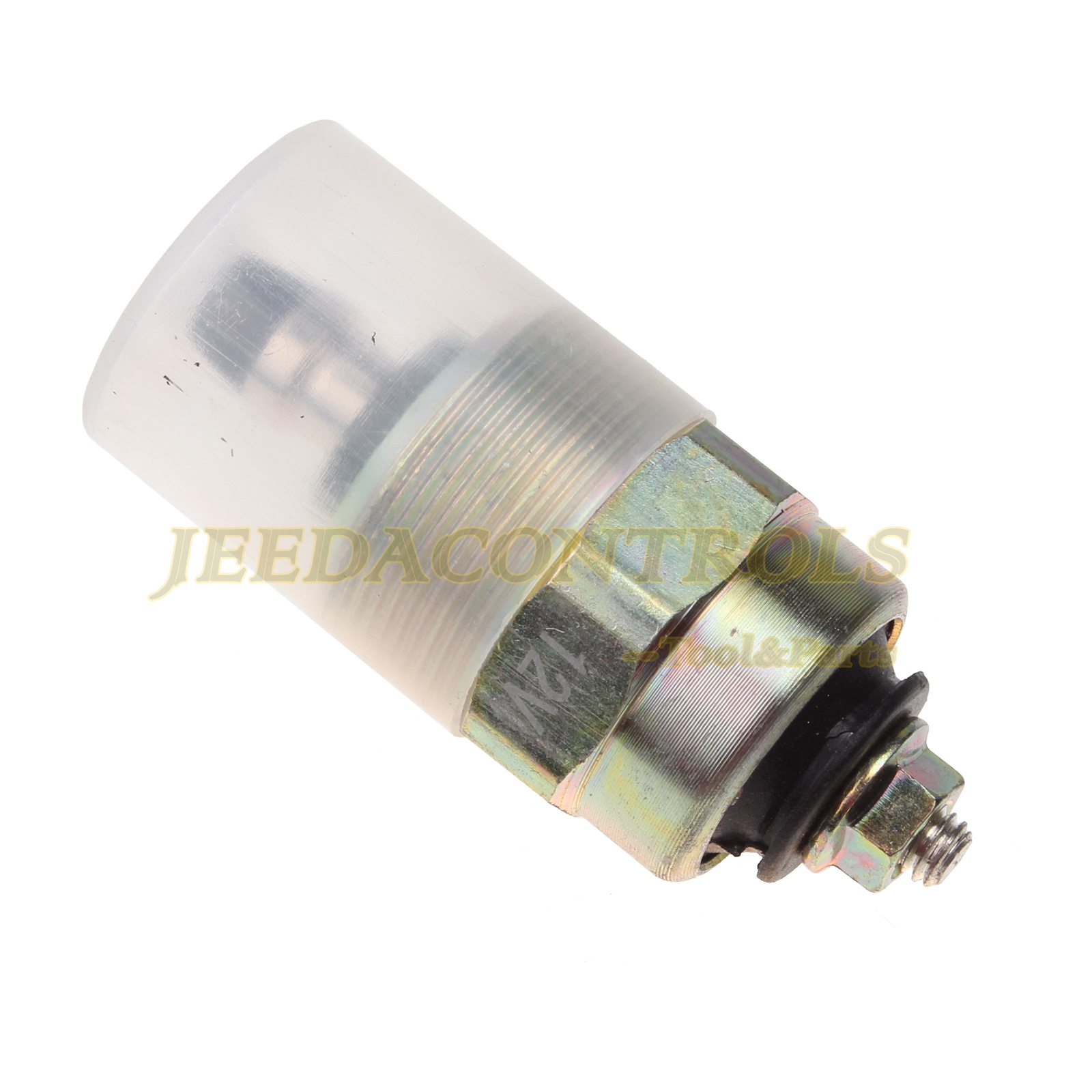 Sz Machparts Fuel Cut Off Stop Solenoid 8190393 Compatible with Bosch M24 x 1mm M5 Case Haytools WDX1701 Parking device Injection System 12V