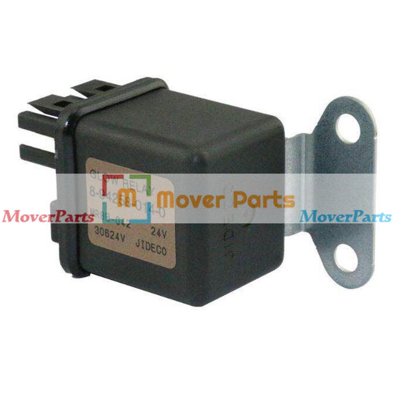 Glow Plug Relay 8-94258-014-0 for Hitachi ZX110 ZX120 ZX180LC ZX200 Isuzu 6HK1