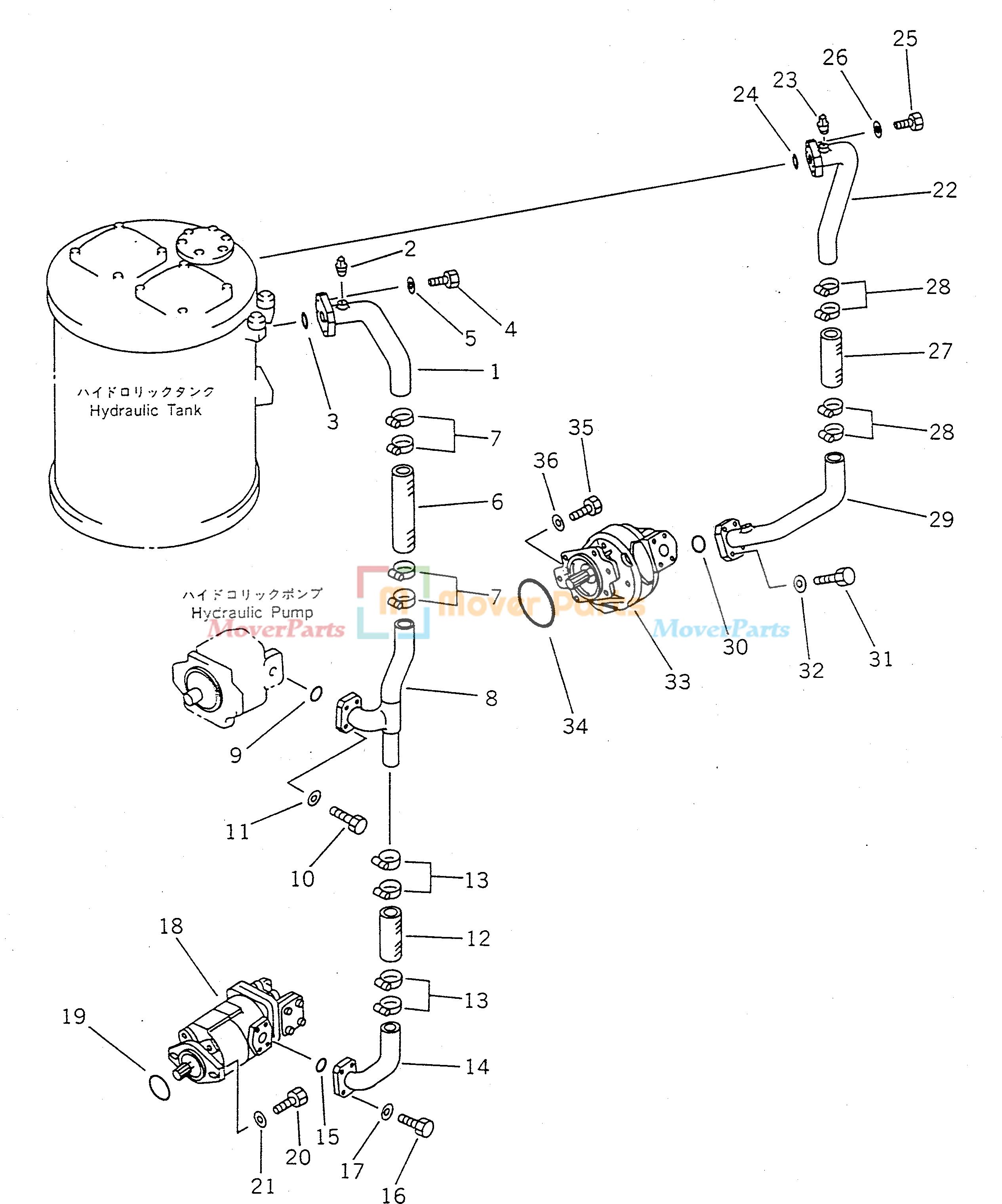 51568955 hydraulic gear pump 705 52 20100 7055220100 for komatsu wa450 1