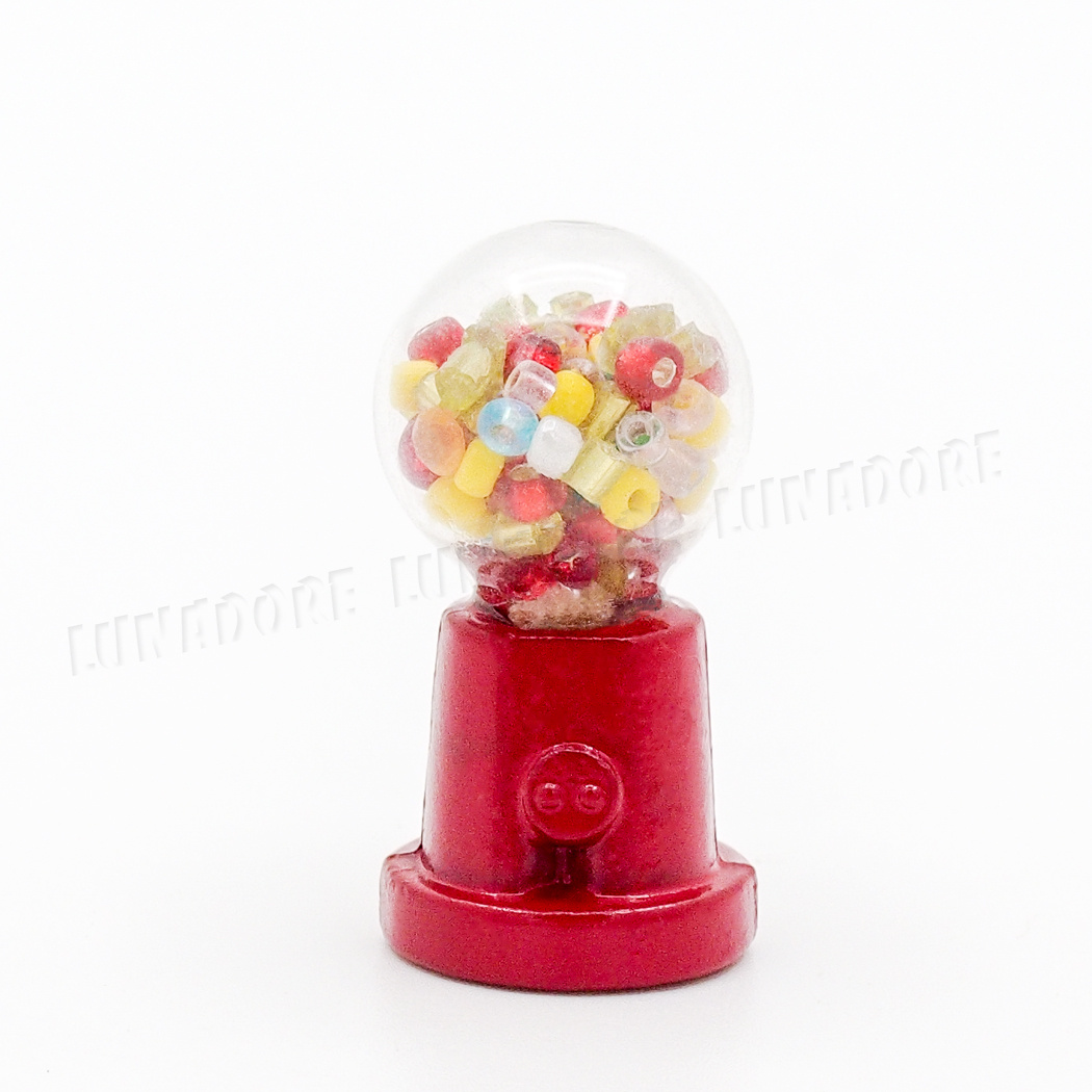 Dollhouse Miniature Glass and Metal Gumball Machine  for 1:12 Shop or Store