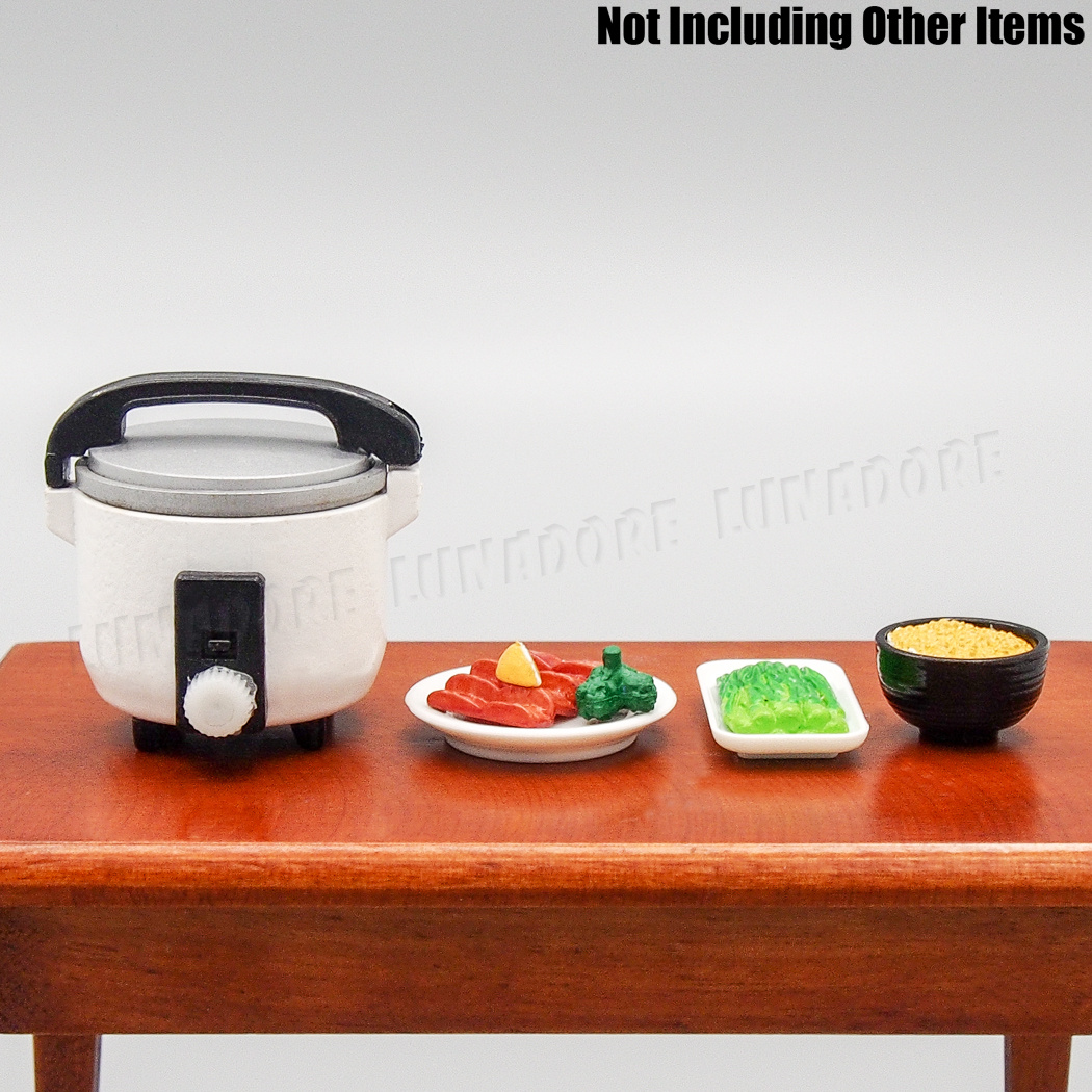 1:12 Miniature Rice Cooker Food Steamer Warmer Kitchen Cookware Dollhouse W9S0