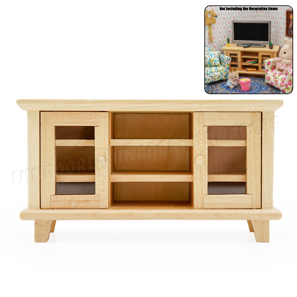 1:12 Dollhouse Miniature Wooden TV Cabinet//Stand// Bench 1PCS WL061B