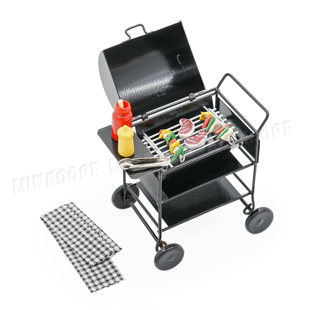 DOLLHOUSE Metal Barbeque BBQ Gas Grill Nonworking 1:12 Doll House Miniatures