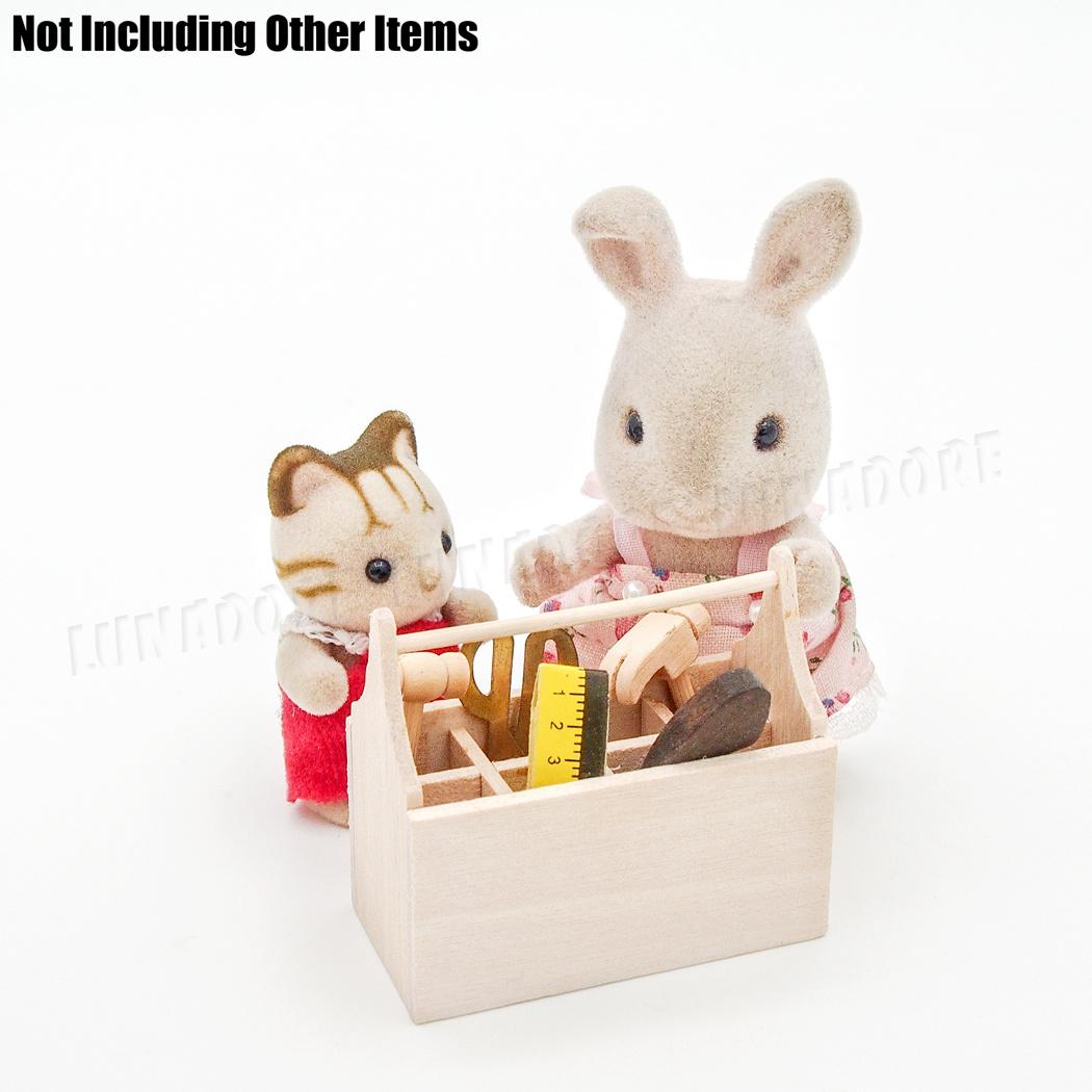 1:12 Dollhouse Miniature Furniture Dollhouse Model Wooden Toolbox@HIJB