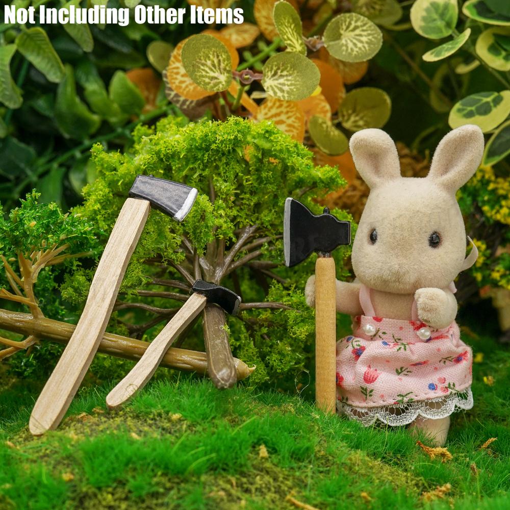Ax Hatchet Adze Tool Furniture Dollhouse 1:12 Miniature 3Pcs Felling Axe Set