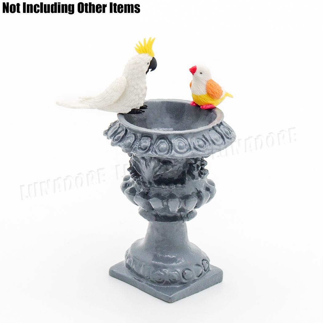 Dolls House Grey Stone Bird Bath Miniature 1:12 Scale Garden Accessory