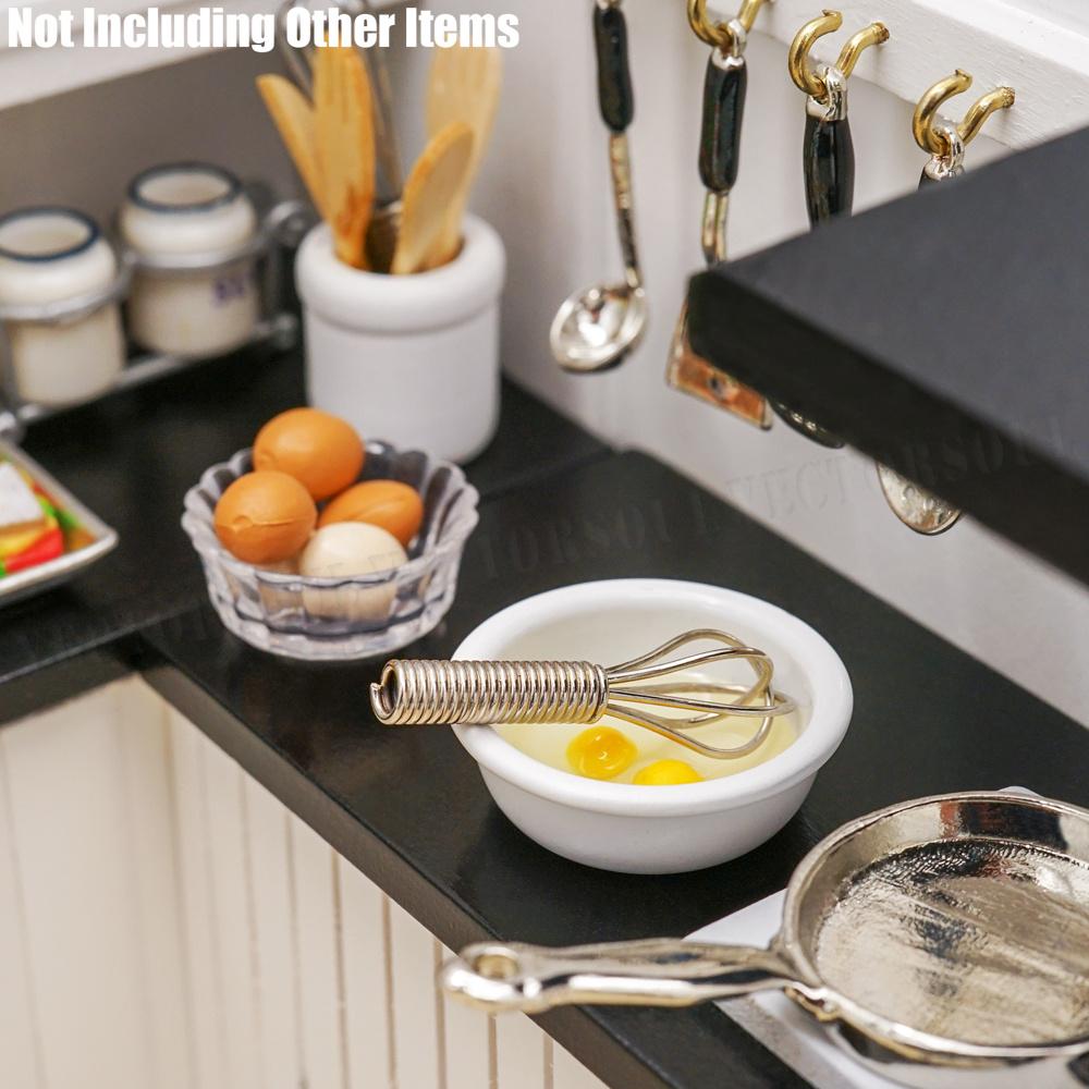 1:12 Dollhouse Miniature Accessories Egg Whisk Bowl Simulation Kitchen Kid Toys