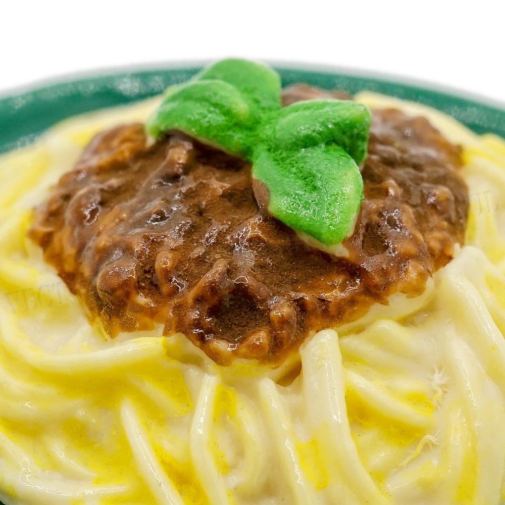 1:12 Miniature Spaghetti Bolognese Green Plate Kitchen Food Pasta Dollhouse Toy