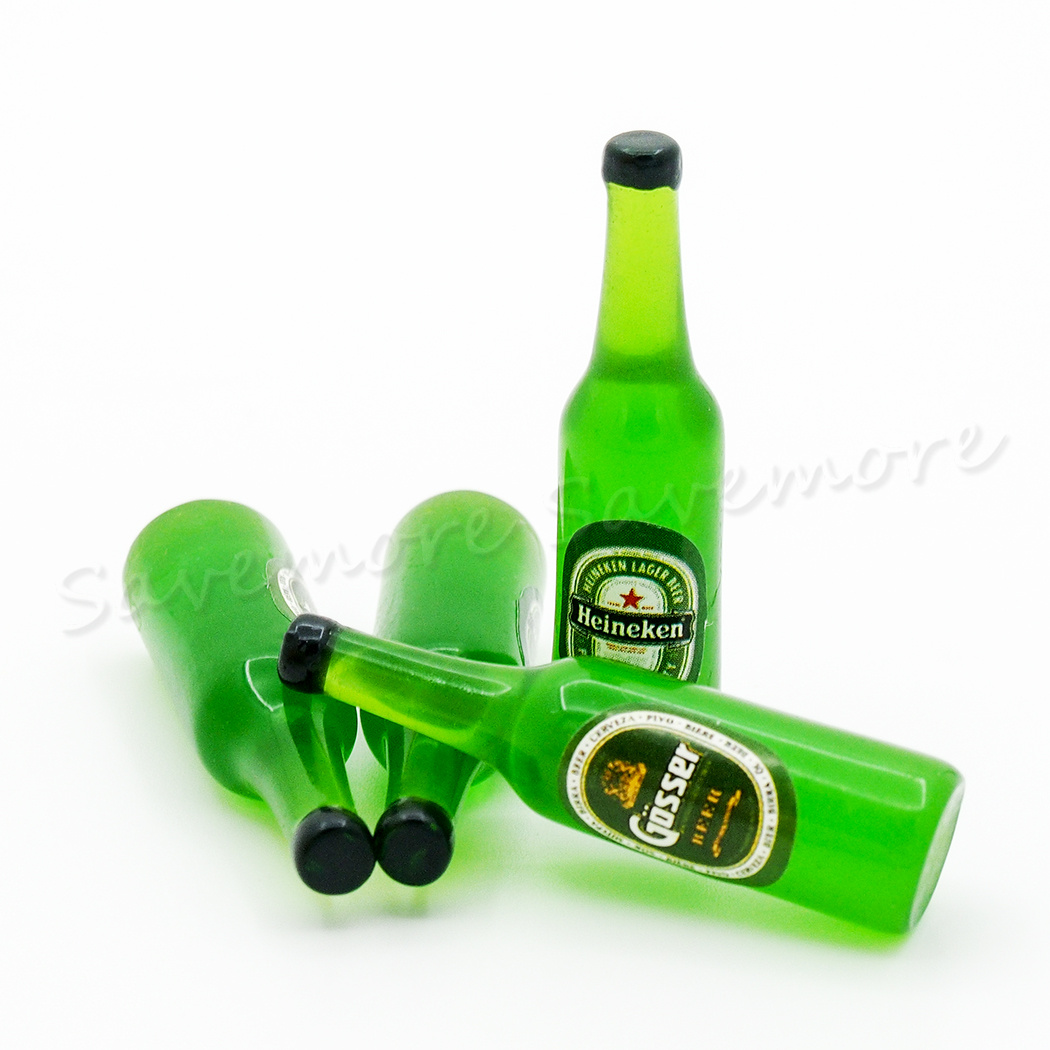 1PCS Random 1:12 Miniature Dollhouse Beer Bottle Drink Bar Kitchen Decor