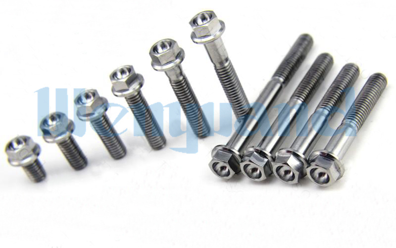 4PCS M8*1.25x31mm Ti GR5 Titanium Countersunk Screw Bolts For Motorcycle