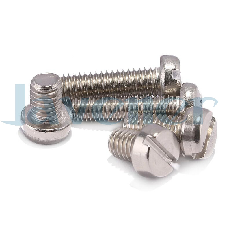 Plain Finish Cheese Head Pack of 50 Slotted Drive 16mm Length M6-1 Metric Coarse Threads 18-8 Stainless Steel Machine Screw Fully Threaded Meets DIN 84
