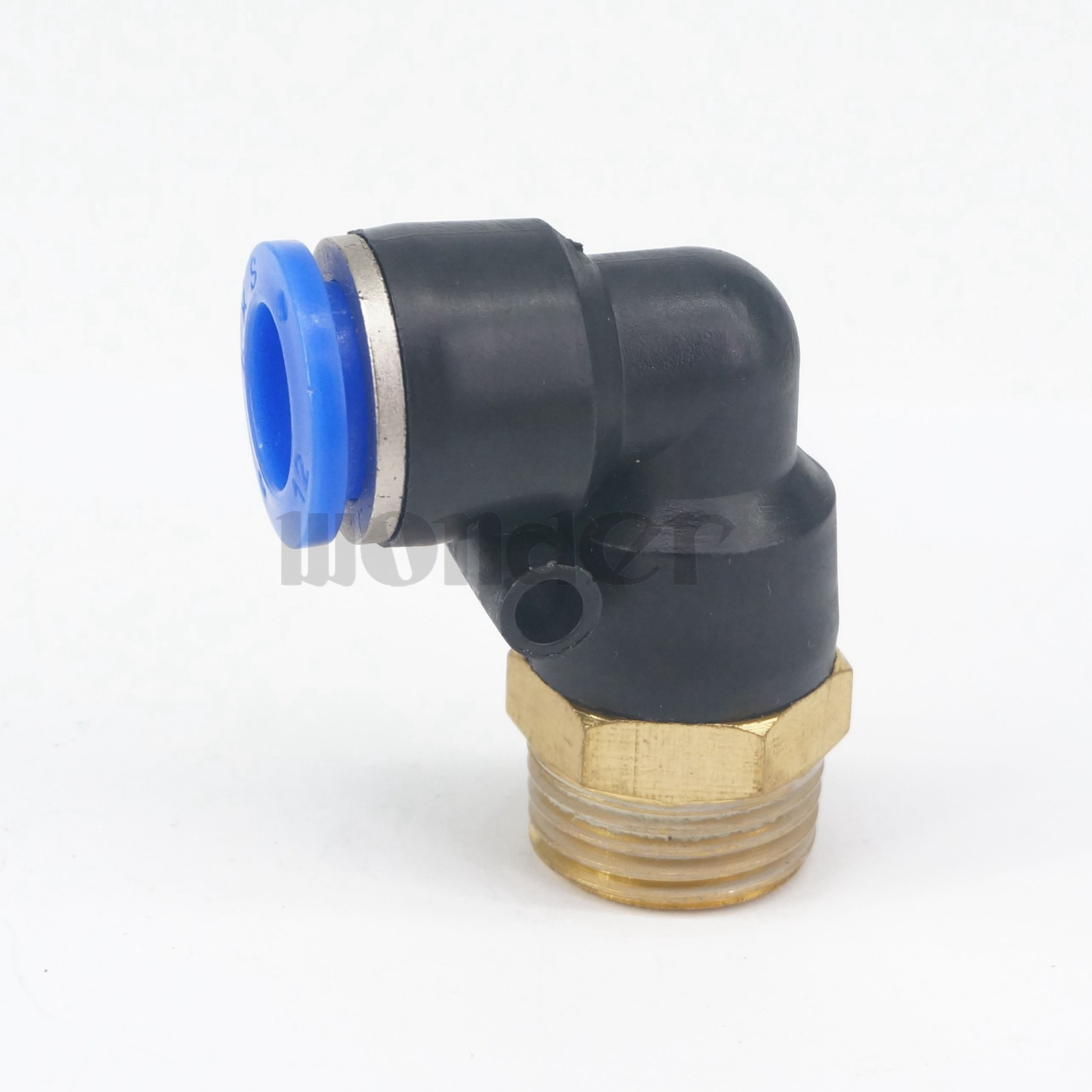 """4 X Pneumatic Male Elbow Connector Tube 12mm Threaded 1//2/"""" NPT Push In Fitting"""