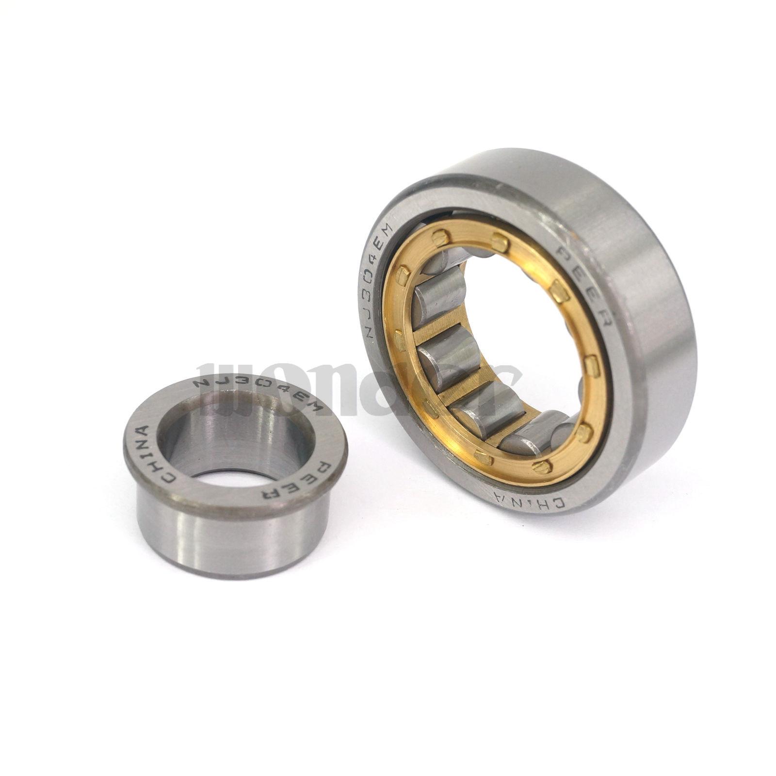 40x17x12mm NJ203EM Mechanical Bearing Steel Cylindrical Roller Bearings
