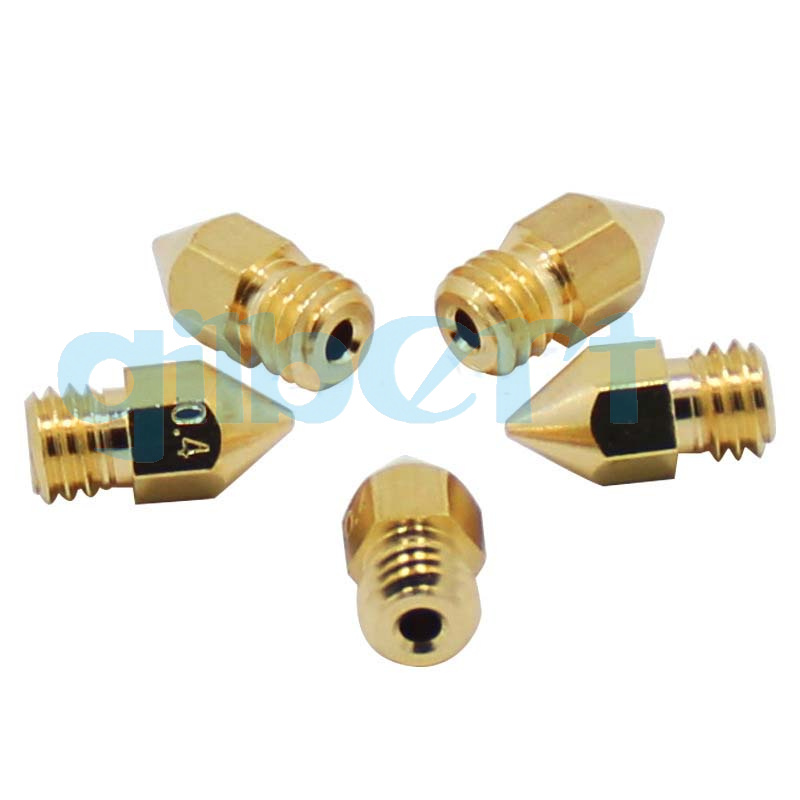 MK8 Extruder Nozzle 0.1//0.2//0.3//0.4-1.0mm For 1.75//3mm Filament 3D Printer YG