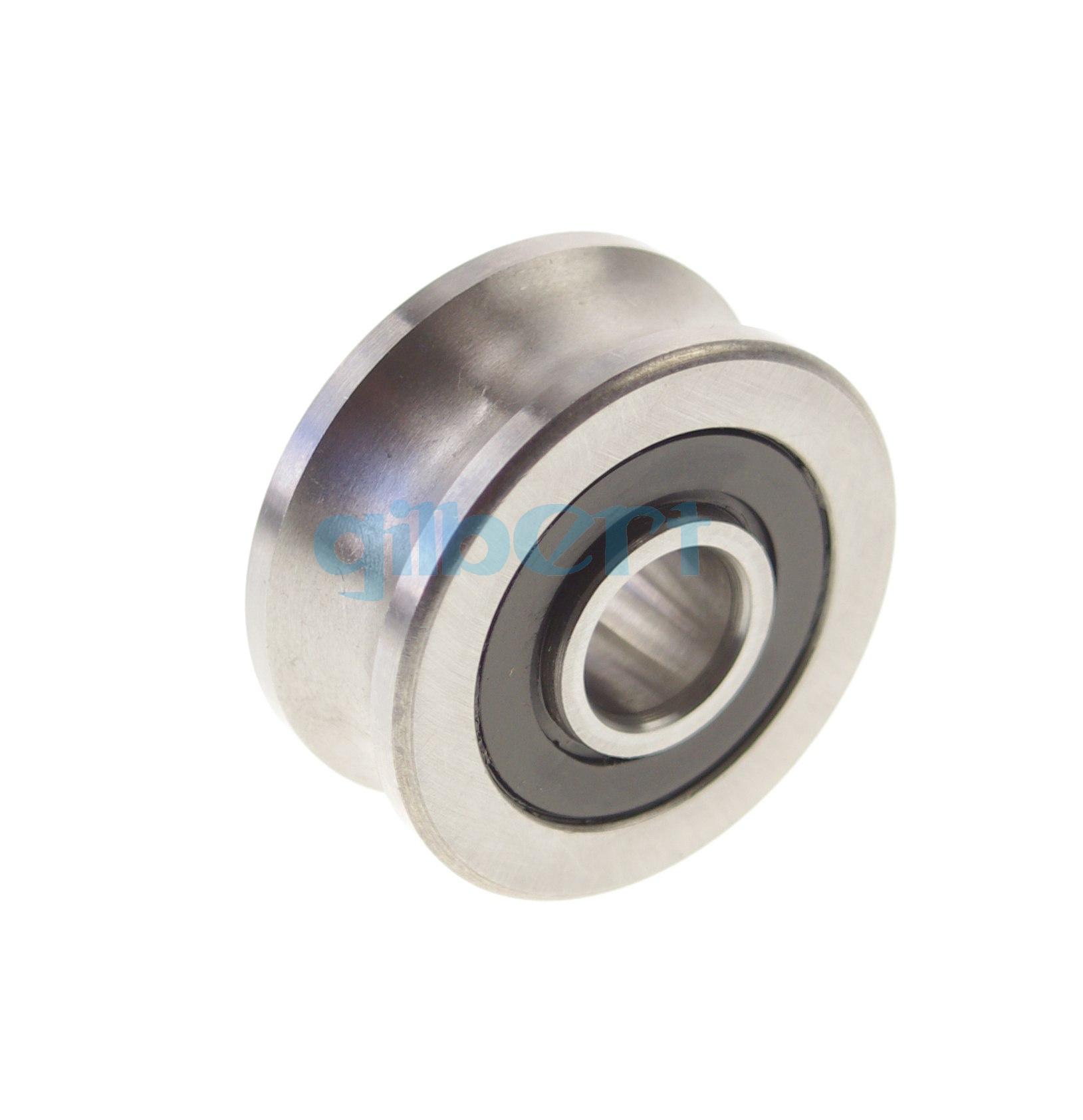 2pcs 12*39.9*18mm U Groove width 11.5mm Guide Pulley Sheave Sealed Rail Bearing