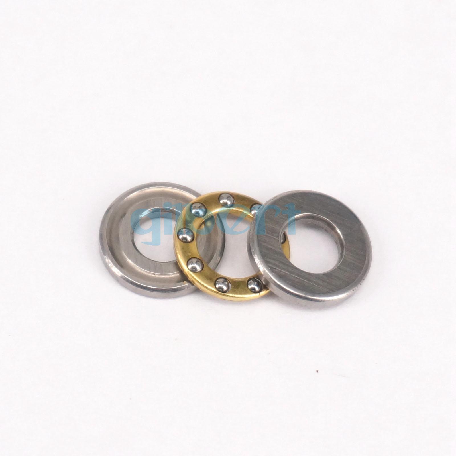 10PCS 5x11x4.5mm Axial Ball Flat Washers Thrust Bearings 3-Parts ABEC-1