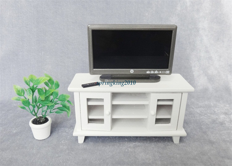 1:12 Scale Dollhouse Miniature TV-and Remote Cute mini Furniture Accessory Hot